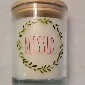 """Rae Dunn Candle """"BLESSED"""" Winter Pine 16o…"""